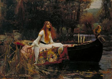 Waterhouse, John William: The Lady of Shalott. Fine Art Print/Poster. Sizes: A4/A3/A2/A1 (0041)